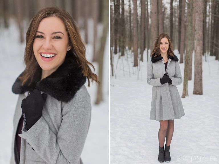 Outfit ideas for outdoor winter portraits in Ottawa