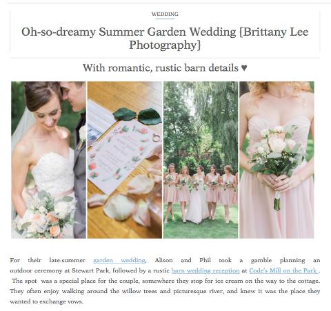 Ottawa blush and lace wedding photos featured on international wedding blog
