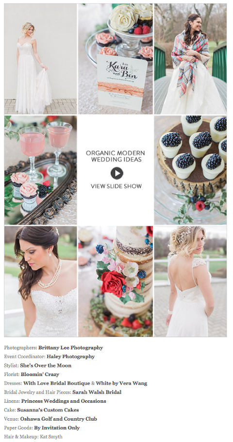 Wedding images featured on Wedding Chicks