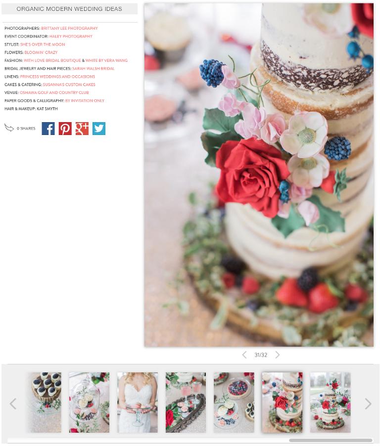 Ottawa Wedding inspiration featured on Wedding Chicks Blog