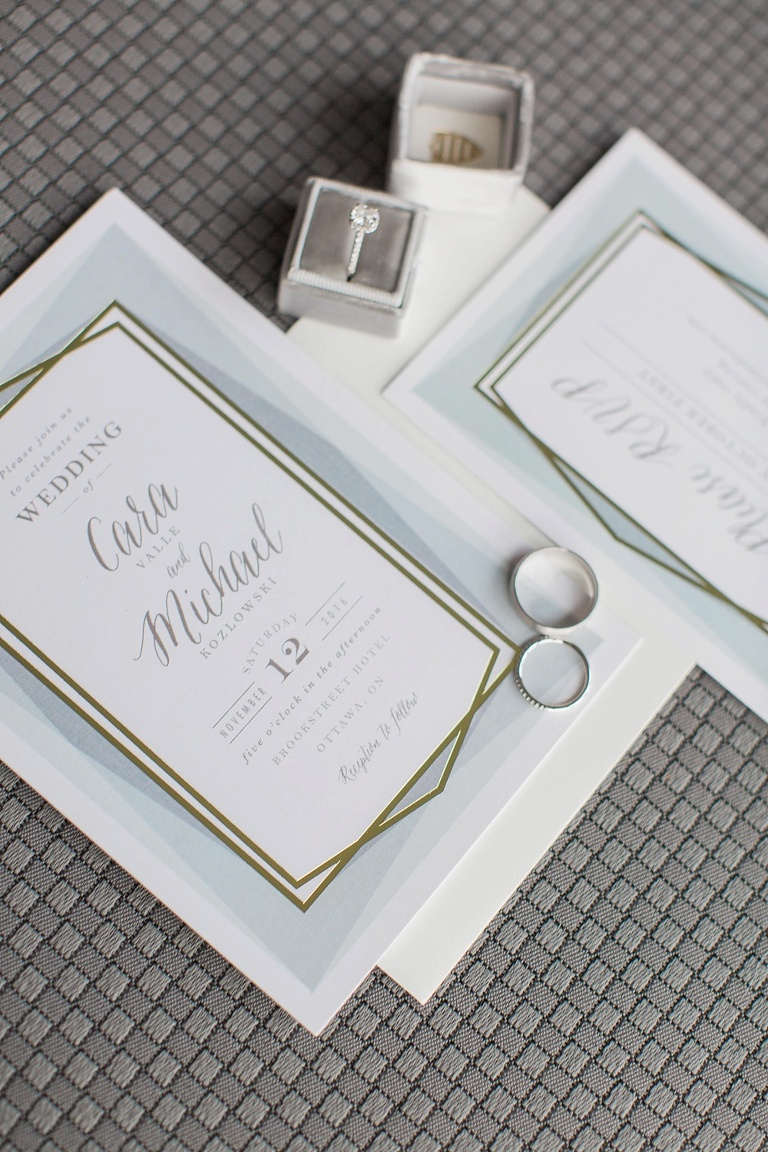Brookstreet Hotel Ottawa Fall Wedding - Minted wedding invitations