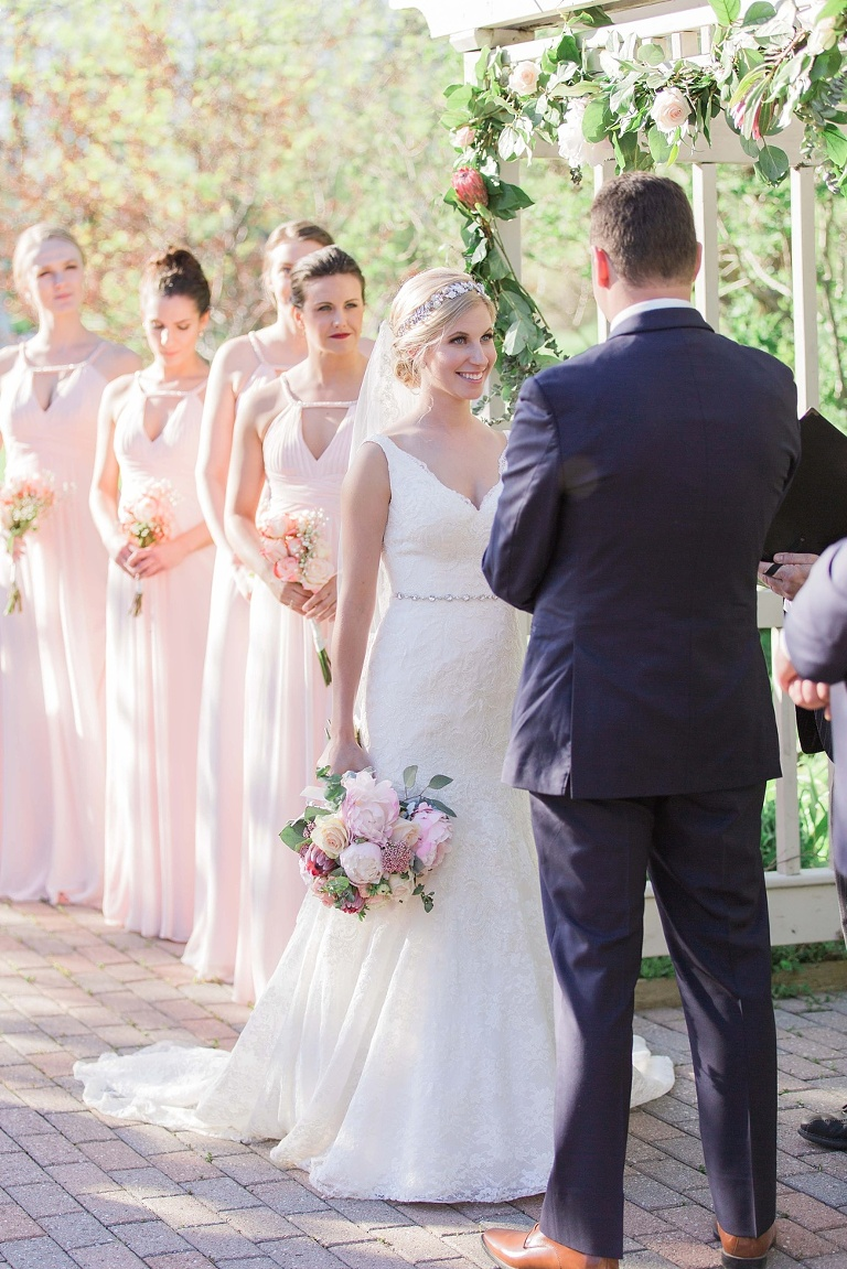 Blush And Navy Strathmere Spring Wedding Brittany Lee