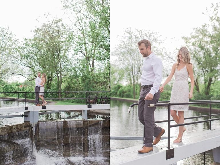 Merrickville engagement photos along the Rideau River locks
