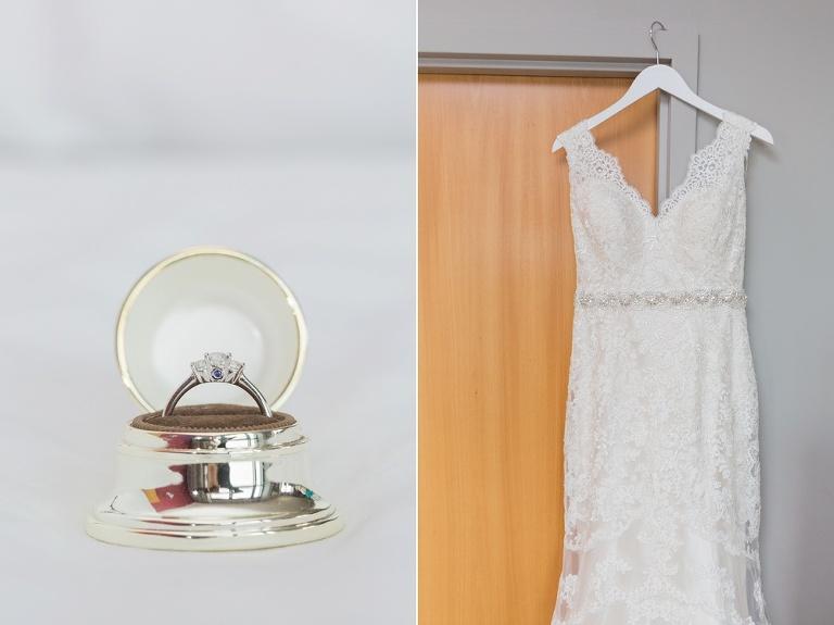 Brookstreet Hotel Summer Wedding - Bride getting dressed photos