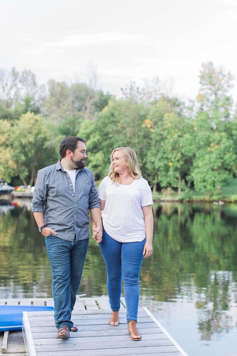 Manotick Summer Engagement Session photos along the Rideau River