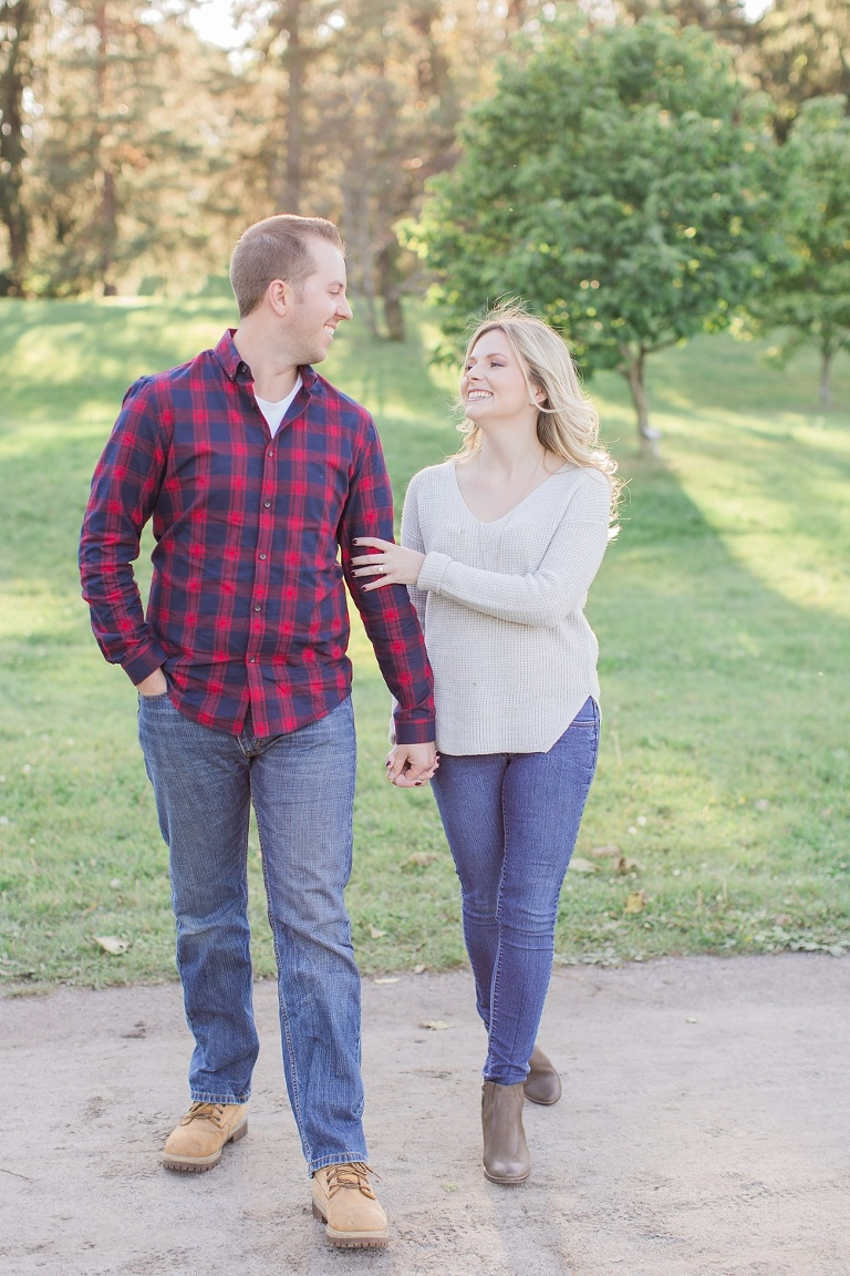 Bright and Fun Fall Engagement Session - Ottawa Arboretum Fall Photos