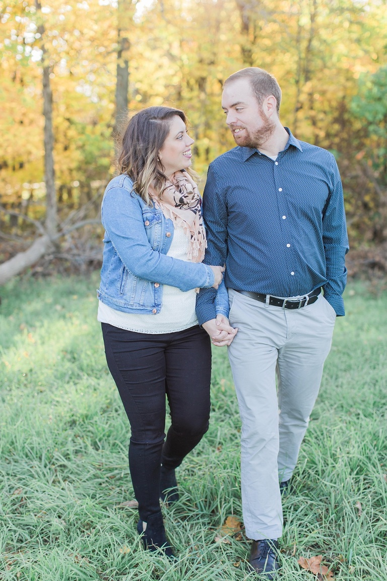 Sarsfield Fall Engagement Session photos in a country field