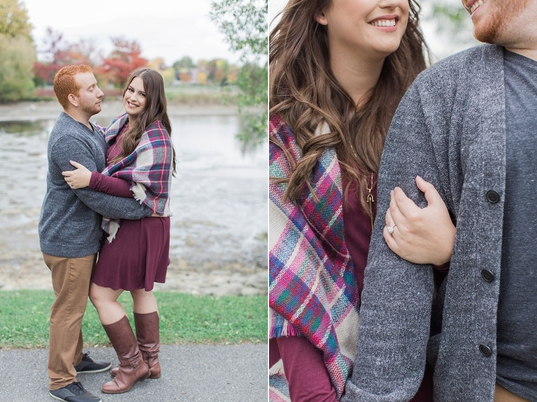 Arboretum Fall Engagement Photos at the Ottawa Experimental farm
