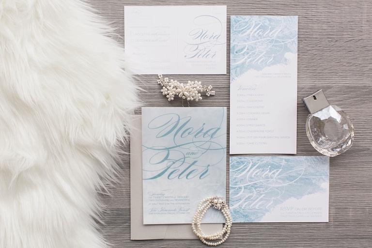 Winter Wonderland Styled Wedding - Winter wedding inspiration