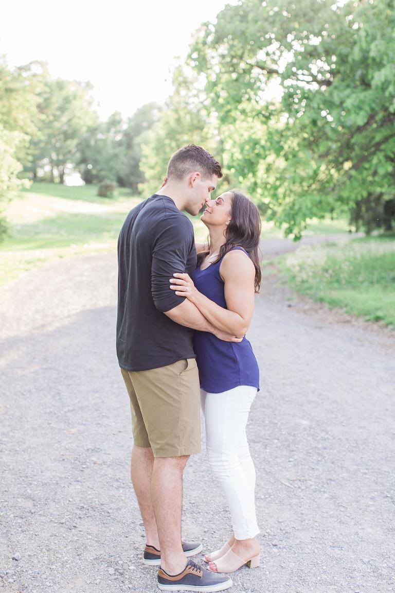 Beautiful summer engagement photos at Ottawa experimental farm
