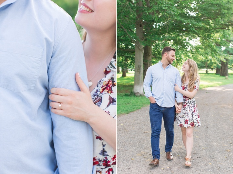 engagement photos at the Ottawa experimental farm and Ottawa Arboretum