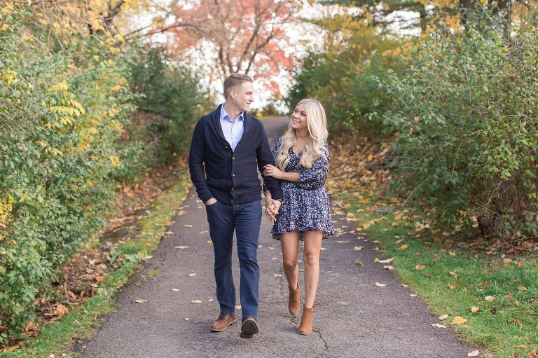 Hog Back falls engagement photos in ottawa during the fall