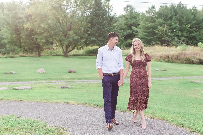 engagement photos at pinhey's point historic site Ottawa